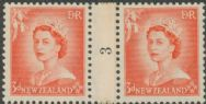 NZ Counter Coil Pair SG 727 1953 3d Queen Elizabeth II Join No. 3 (NCC/186)
